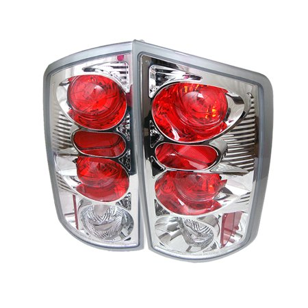 Spyder Dodge Ram 02 06 1500 Ram 2500 3500 03 06 Euro Style Tail Lights Chrome Multicolor Dodge Ram 1500 Tail Light Dodge