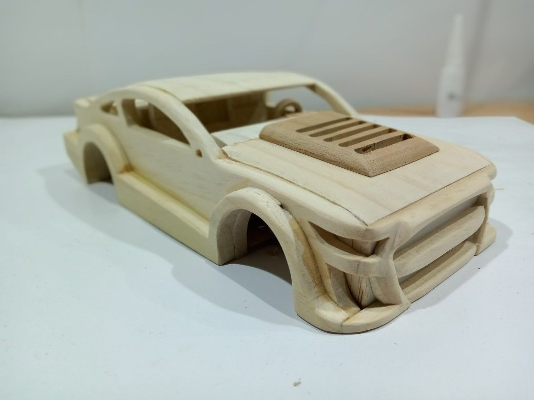 Ford Mustang Shelby Gt500 Wooden Toy Car Wooden Toy Cars Wooden Car Wooden Toys