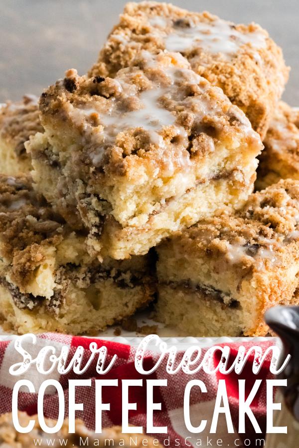 Sour Cream Coffee Cake Recipe In 2020 Sour Cream Coffee Cake Coffee Cake Easy Delicious Recipes