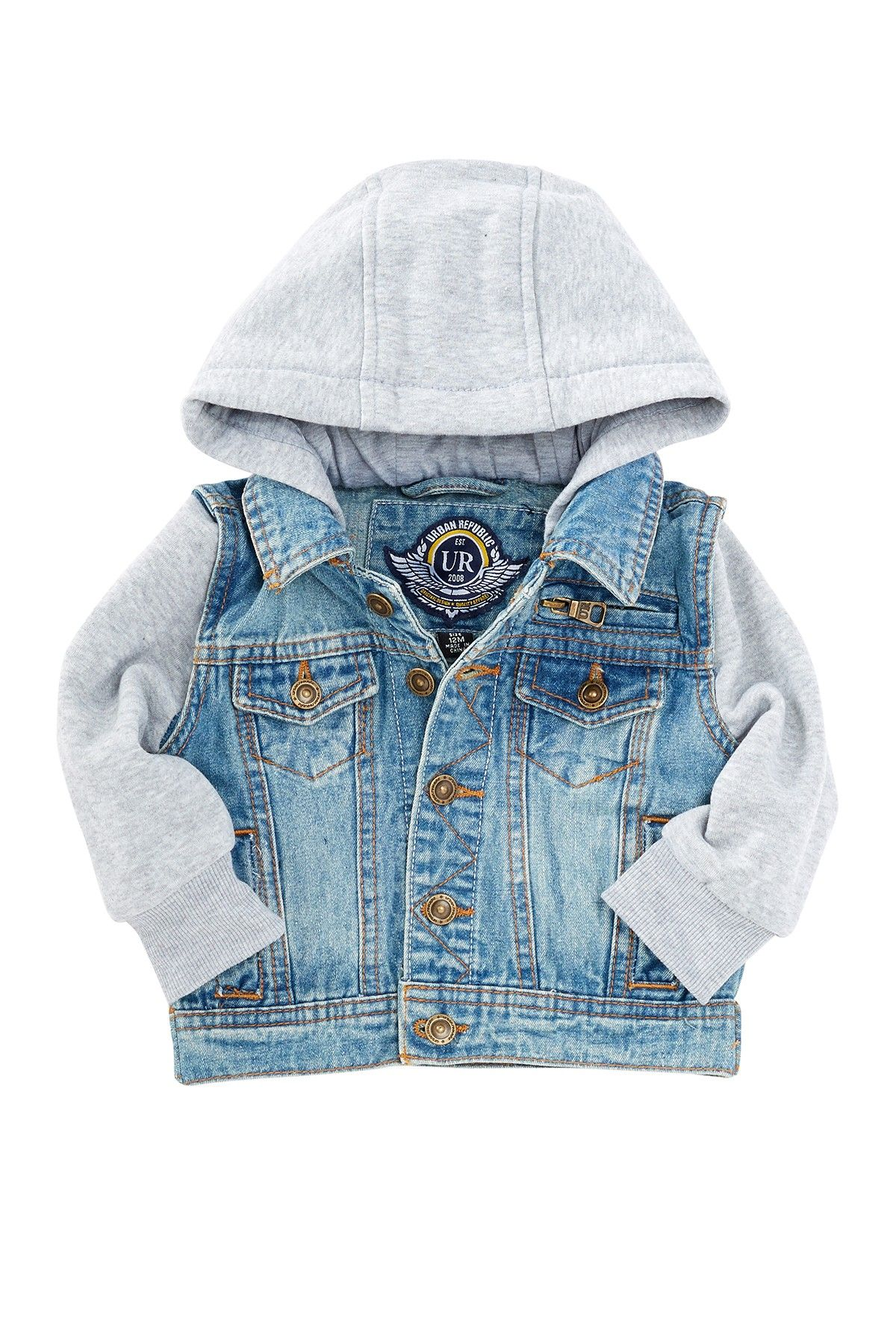 Urban Republic Kids Baby Boys Washed Denim Jacket Infant//Toddler
