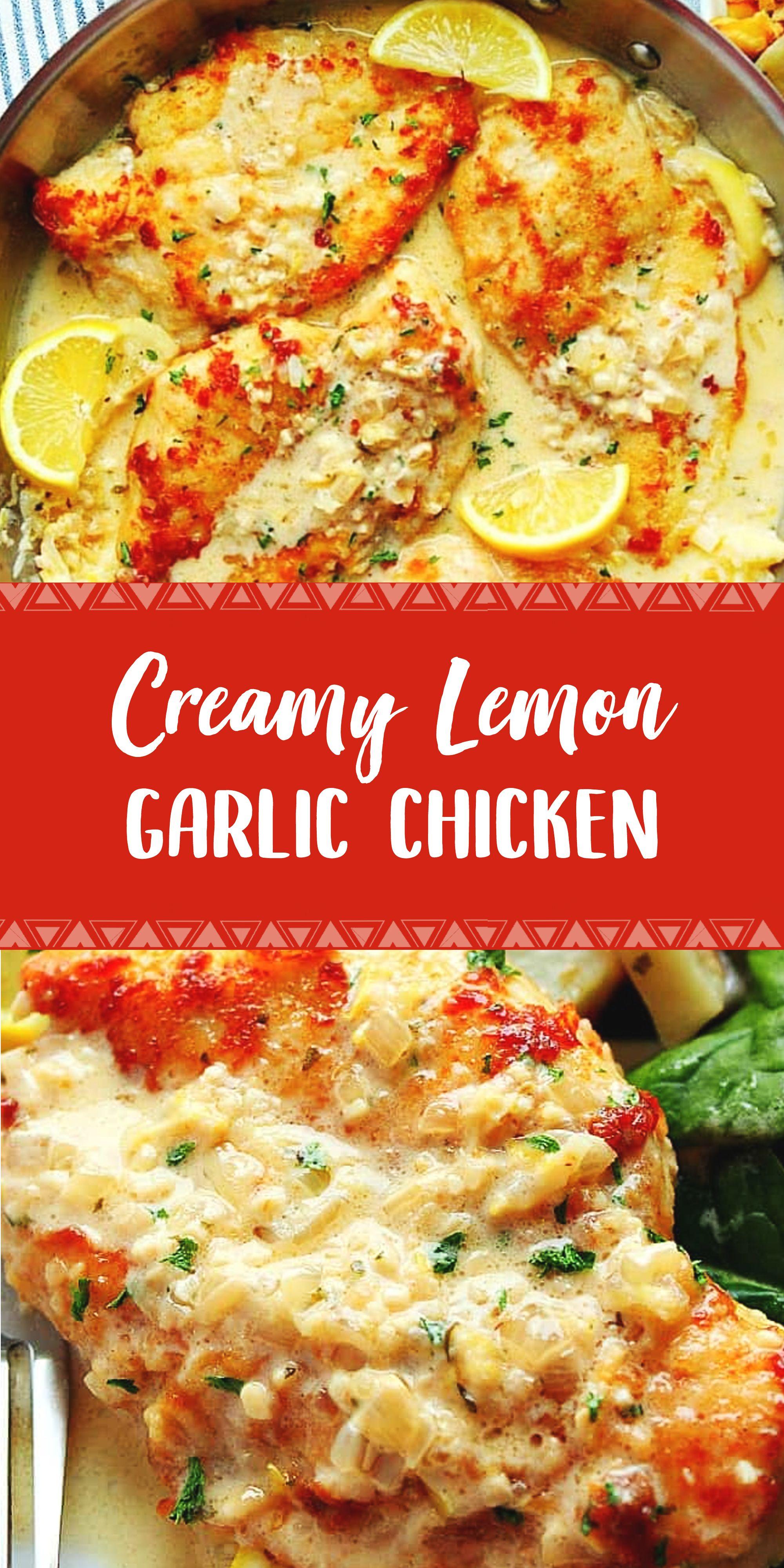 Creamy Lemon Garlic Chicken Recipe In 2020 Chicken Recipes Best Chicken Recipes Chicken Dinner Recipes