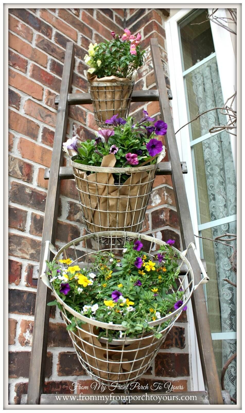 Diy tiered wired egg basket planter display farmhouse