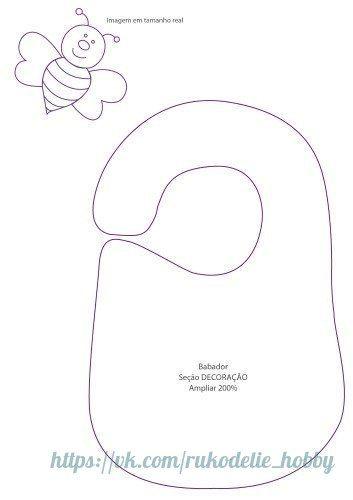 Ideas para el hogar: Baberos con moldes de costura incluye dos ...