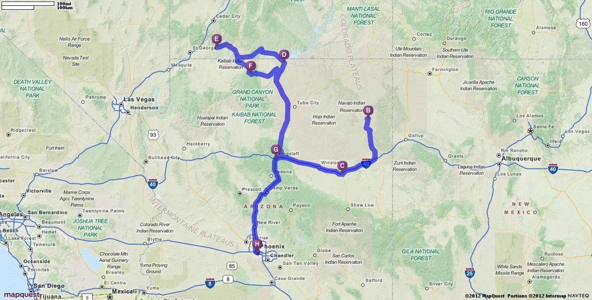 driving directions from phoenix arizona to phoenix arizona mapquest