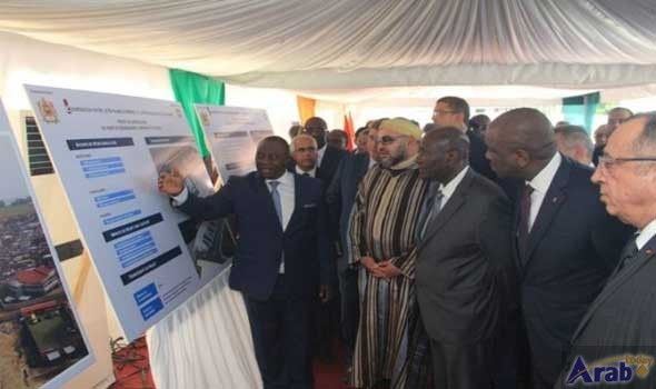 King, Ivorian President Launch Construction Works of…