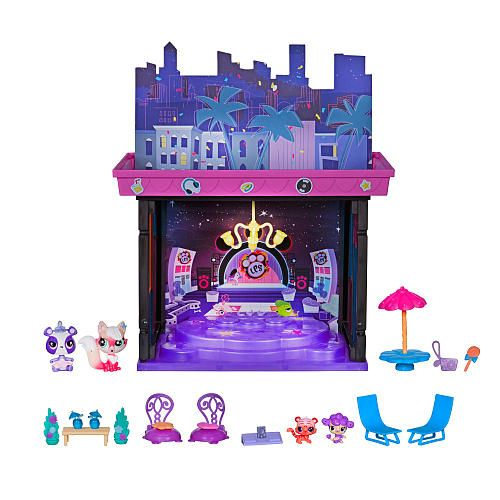 littlest pet shop vip rooftop party style set   hasbro
