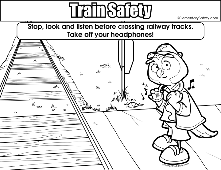 Colouring Page Elementary Safety Coloring Pages Free Printables Words