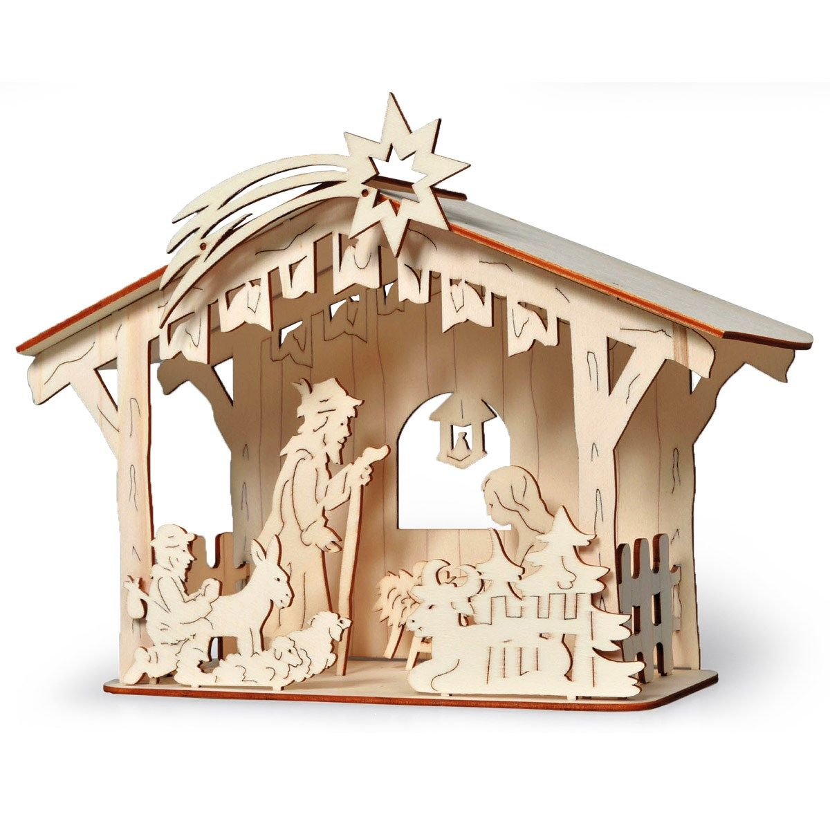 Bethlehem laser cutting projects to try pinterest for Nativity cut out patterns wood