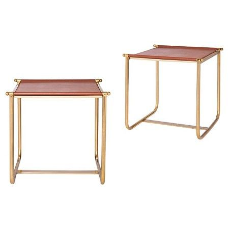Peachy Equestrian Side Table Brown Nate Berkus Target Nate Pabps2019 Chair Design Images Pabps2019Com