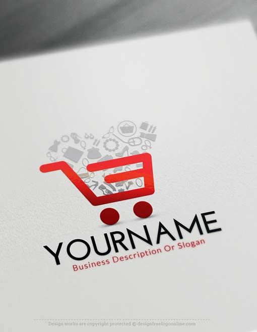 Make your own online e commerce cart logo maker with our for Design online shop
