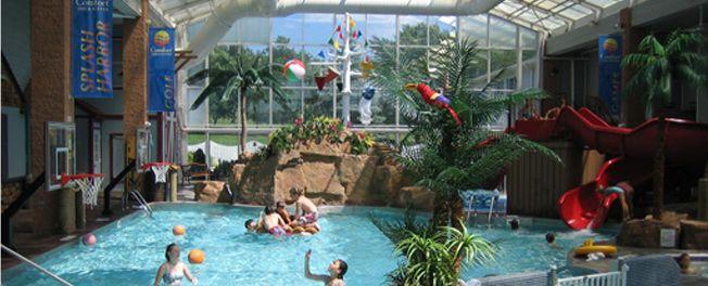 Welcome To Splash Harbor Waterpark Comfort Inn Bellville Ohio
