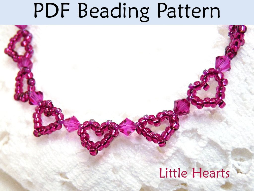 beading tutorial pattern bracelet beaded heart jewelry simple bead patterns little hearts 1159