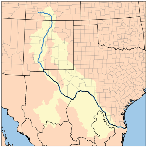 The Northeastern Border Of The United States And Mexico Is The Rio - Rio grande on map of us