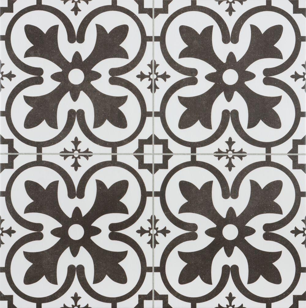 GEO 002 45X45 Discount Tiles White tile floor, White