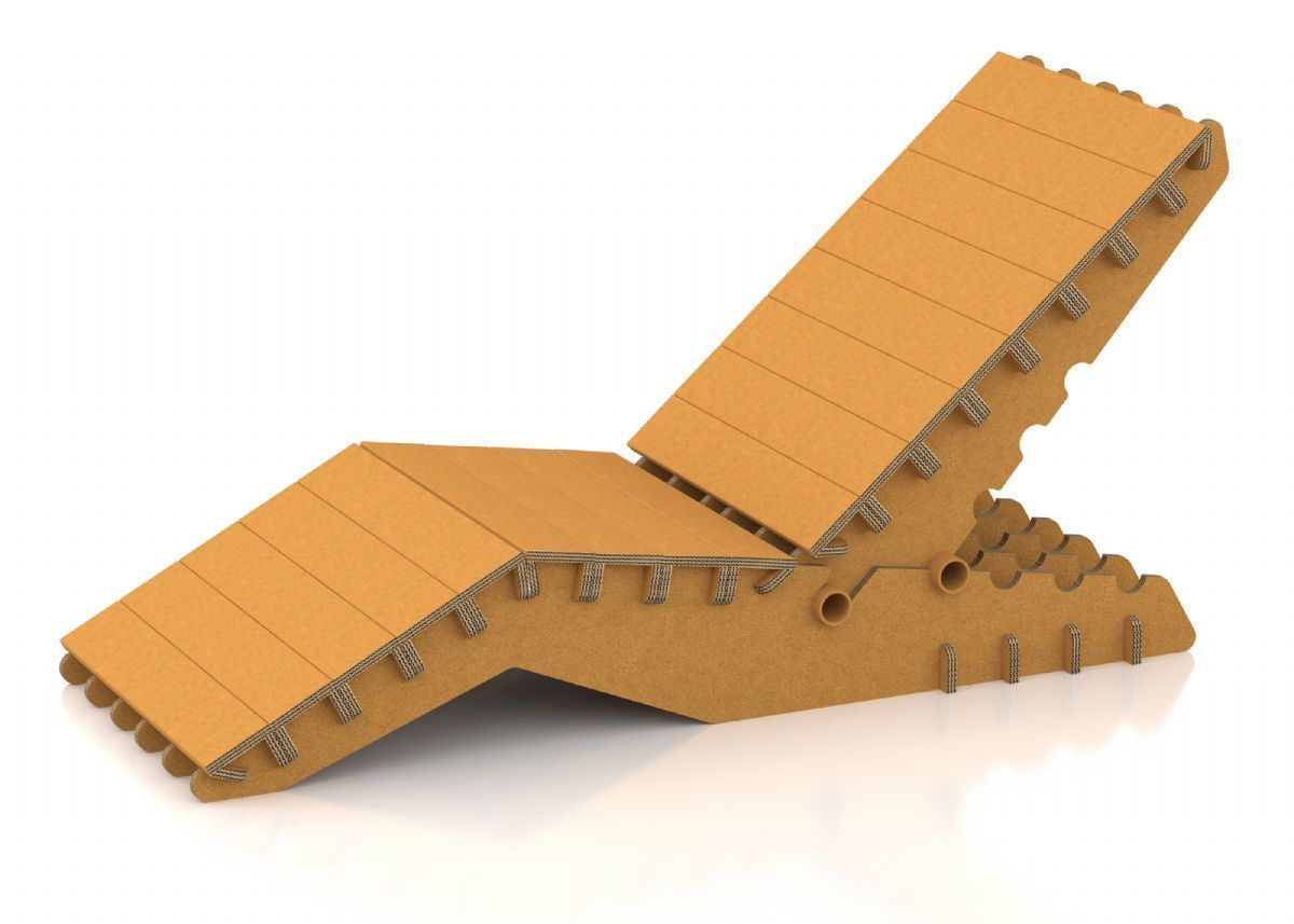 Cardboard rocking chair - Adjustable Deck Chair