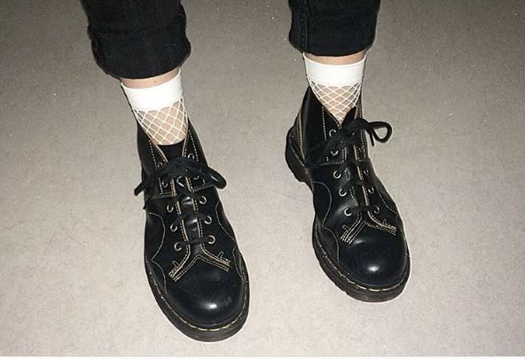 Dr martens church leather monkey boots in 2020 | Sock shoes
