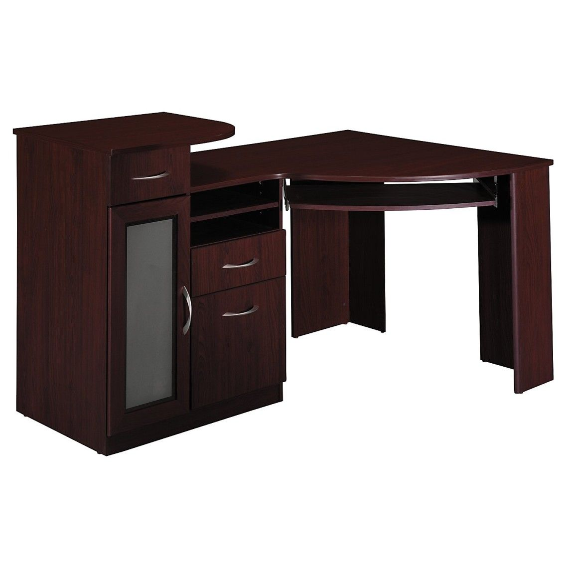 Astounding Designer Desk For Home Ideas With Corner Computer Table And Dark  Brown Color Table Cabinets