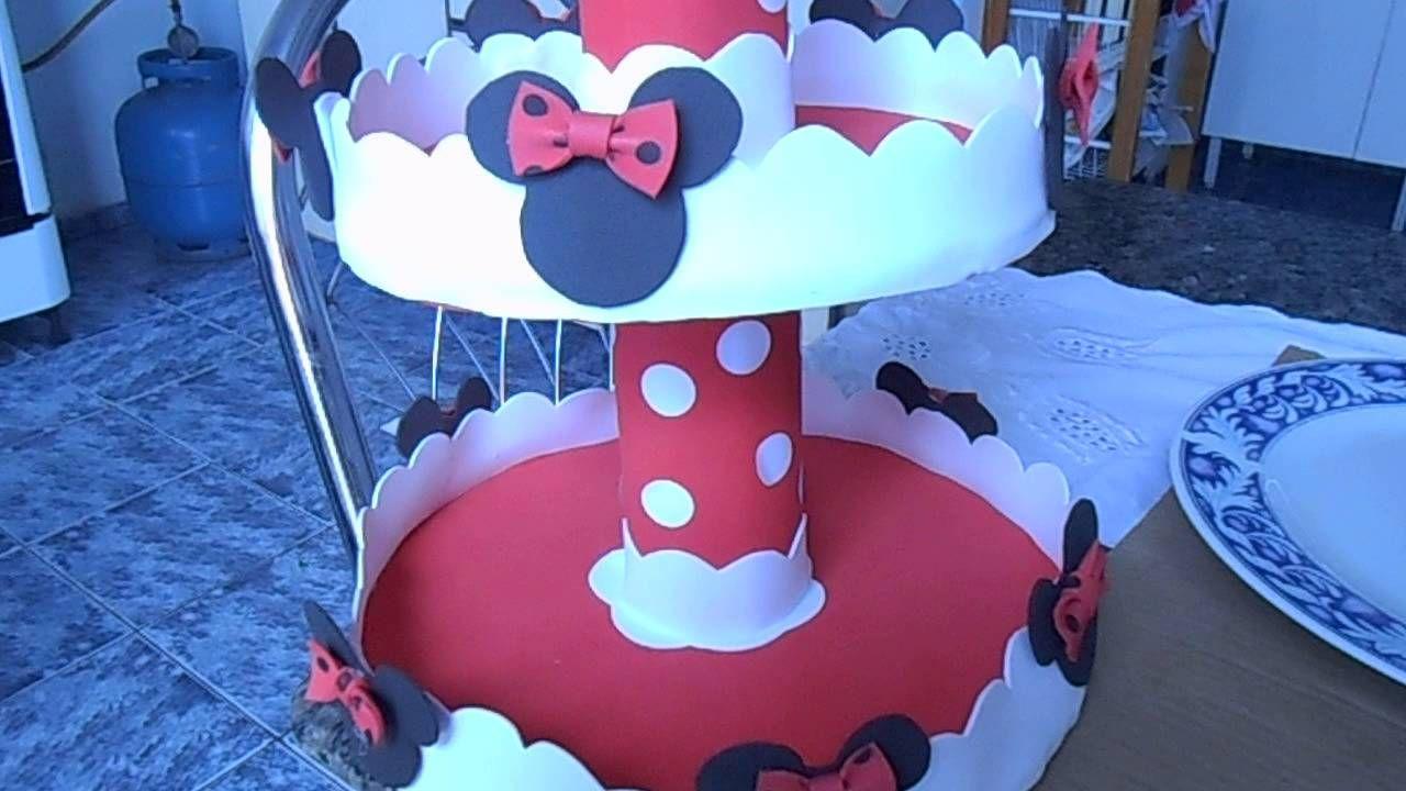 Baleiro Simples Para Festa Da Minnie Vermelha Festa Minnie