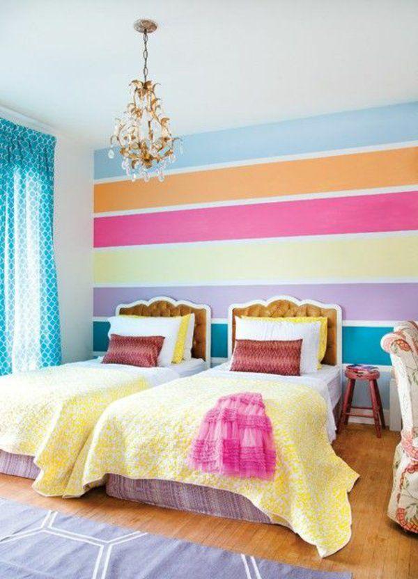 Wandfarben Kombinieren Komplementärfarben Waagerecht Streifen