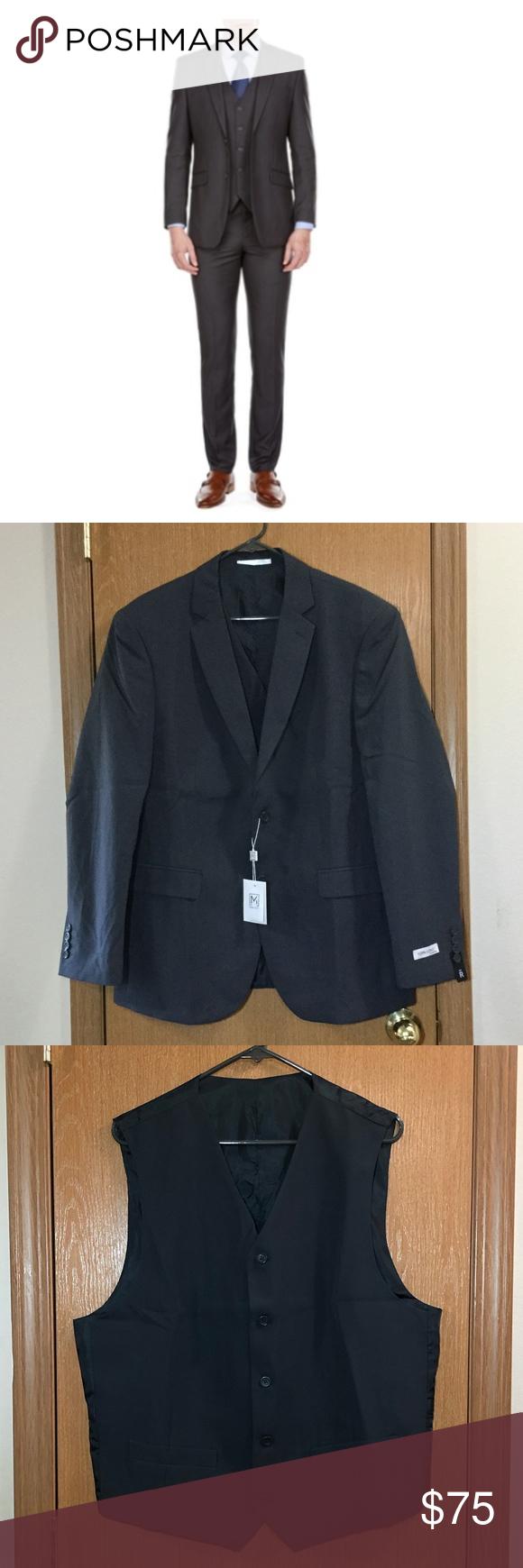 Mdrn Uomo By Braveman Men S Slim Fit 3 Piece Suit 3 Piece Suits Slim Fit Trousers Suits