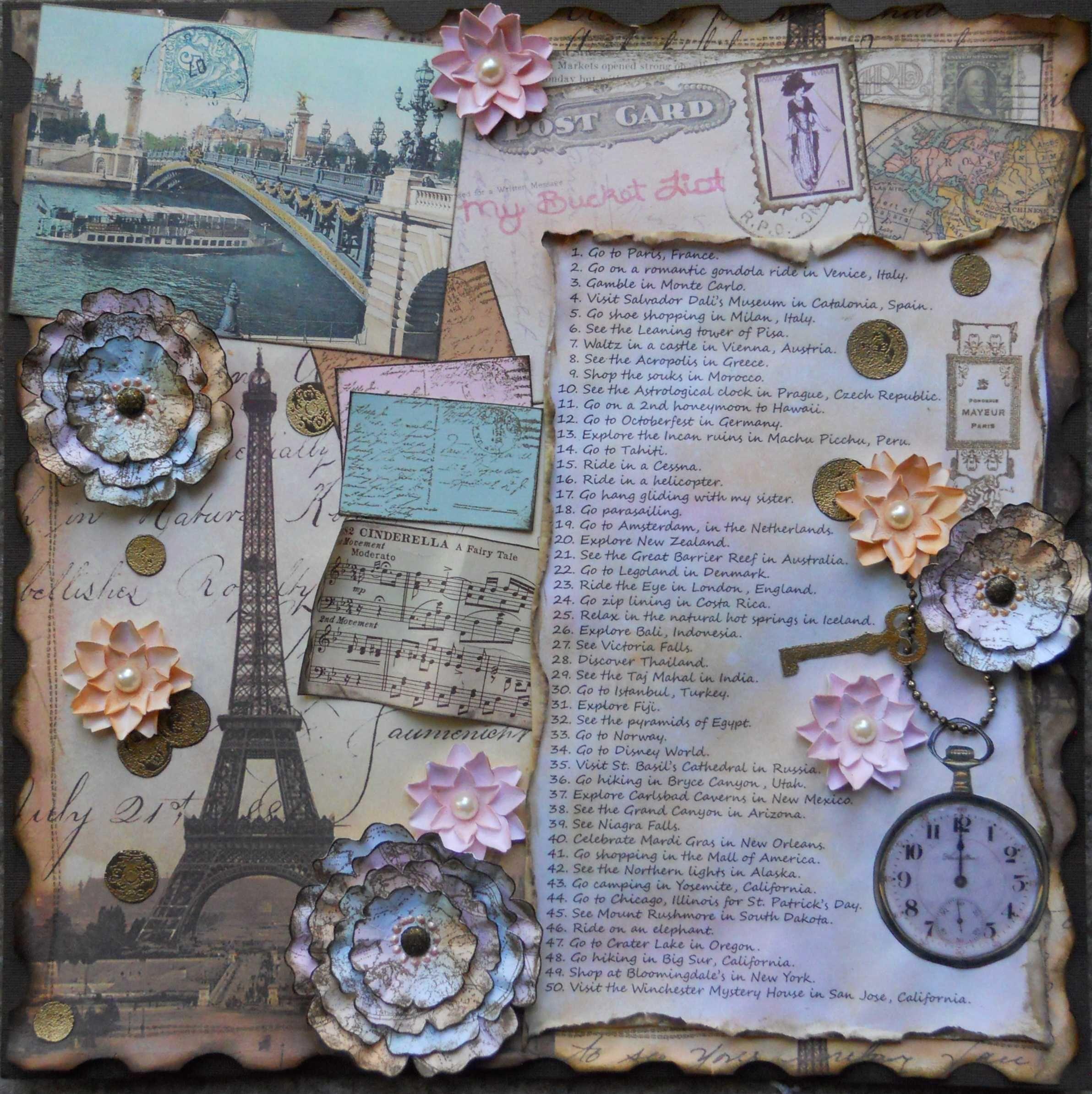 Scrapbook ideas list - Layout My Bucket List Scrapbook Com