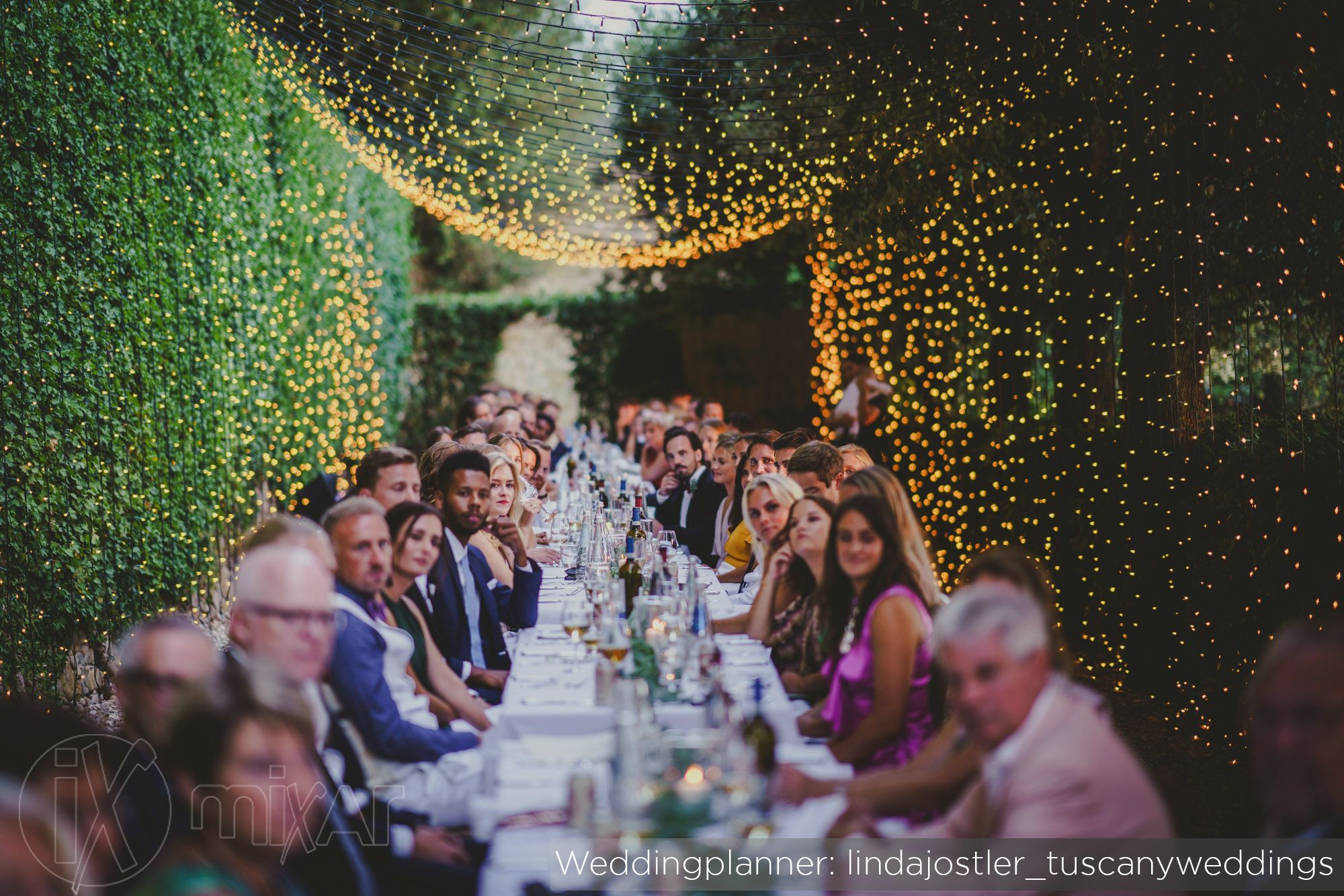 Villa Il Poggiale Fairy Lights Tunnel In Villa Il Poggiale Credit Wedding Planner