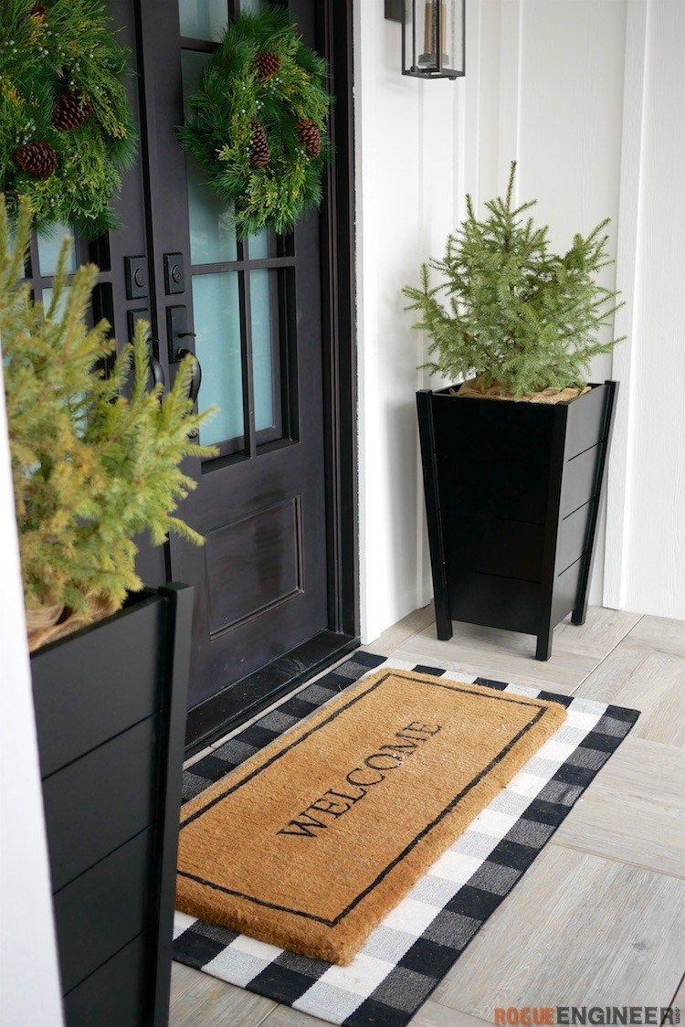 Modern Tapered Planters Rogue Engineer Front Porch Decorating