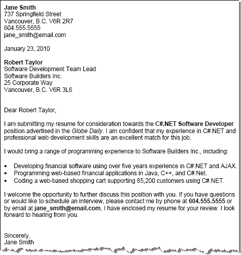 Sample Cover Letter Example Template: Free Cover Letter Examples With Cover Letter Tips