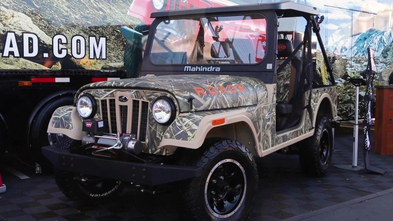 Sema 2018 Mahindra S Camo Themed Roxor Off Roader Monster Trucks Camo Jeep Cars