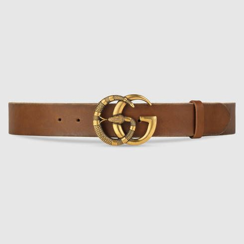 8e8553282af GUCCI Leather Belt With Double G Buckle With Snake.  gucci  women s belts