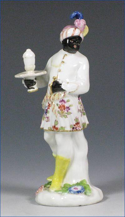 Meissen Figure of a Blackamoor Page,