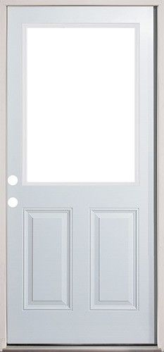 Discount 2 8 Half Lite Steel Prehung Door Unit Prehung Doors Steel Doors Exterior Doors