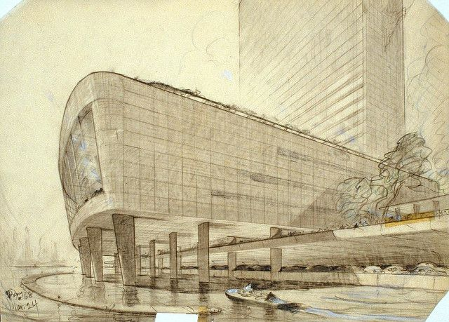 Hugh ferriss art deco architecture decopunk dieselpunk for Architecture totalitaire