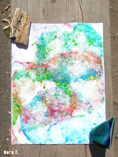 seifenblasen auf papier malen mit kindern seifenblasen malen mit kindern und kunst. Black Bedroom Furniture Sets. Home Design Ideas