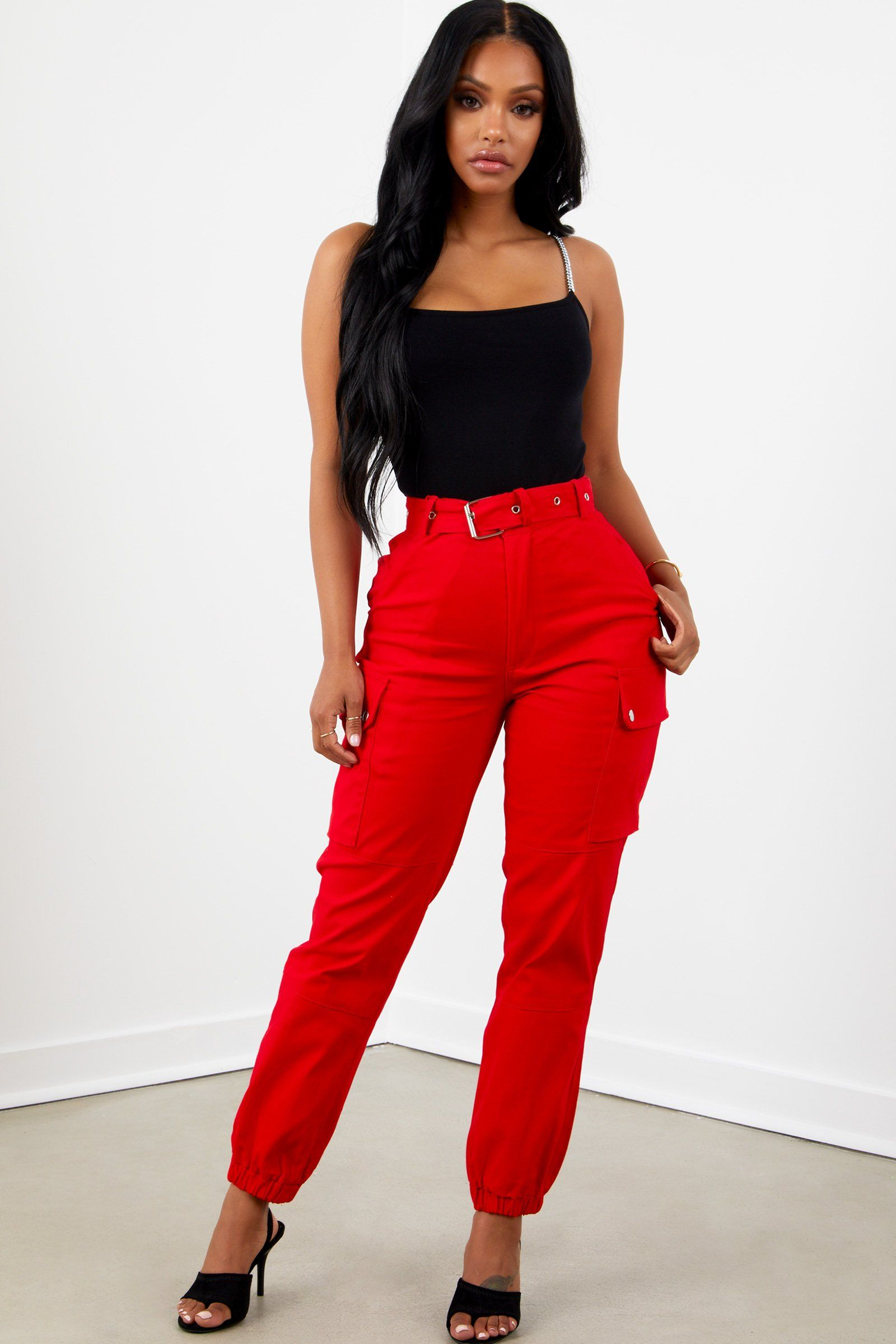 newest selection coupon code unique style Red Cargo Pants | FASHION | Fashion, Fashion pants, Cargo ...