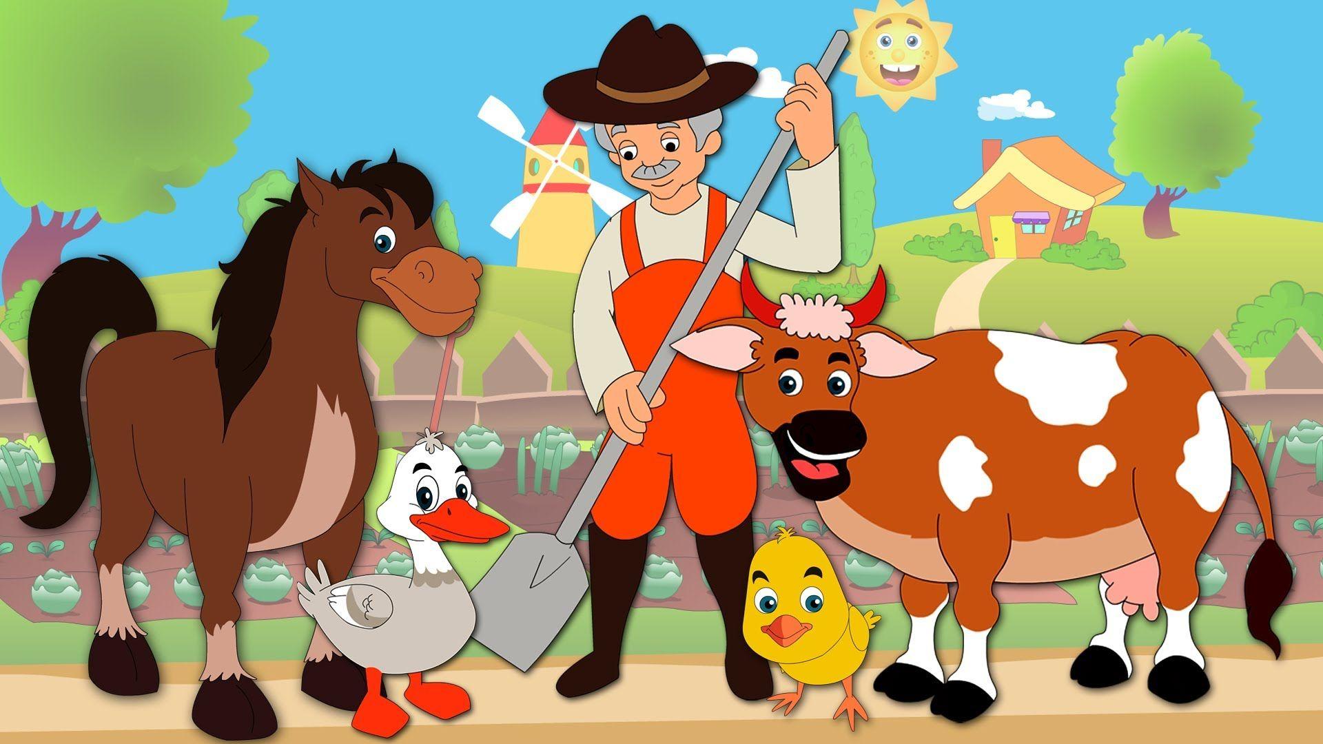 Old Macdonald Animal Sound Song Old Macdonald Had A Farm Nursery Rhyme Nursery Songs Nursery Rhymes Rhymes For Kids