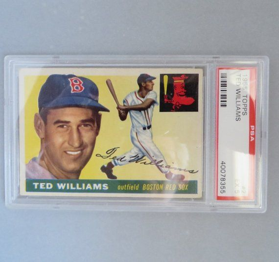 1955 Topps Ted Williams 2 Psa Graded Ex 5 Vintage