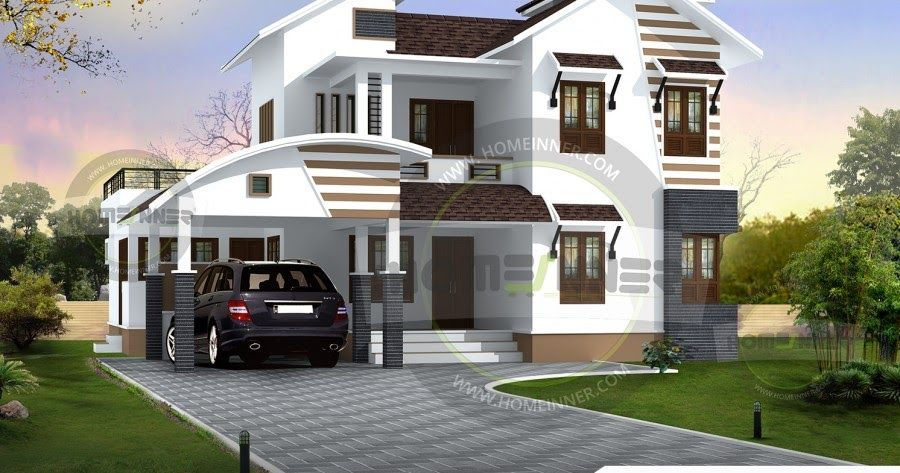 Luxury Modern 2260 Sq Ft 4bhk House Plan Is The Two Story