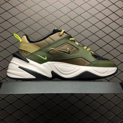 competitive price a38f2 8627e Nike M2K Tekno Medium Olive Black-Yukon Brown AO3108-201 Trainers-4