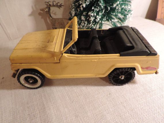 Tonka Toys Vintage Yellow Jeep Childs Toy Collectible Toys
