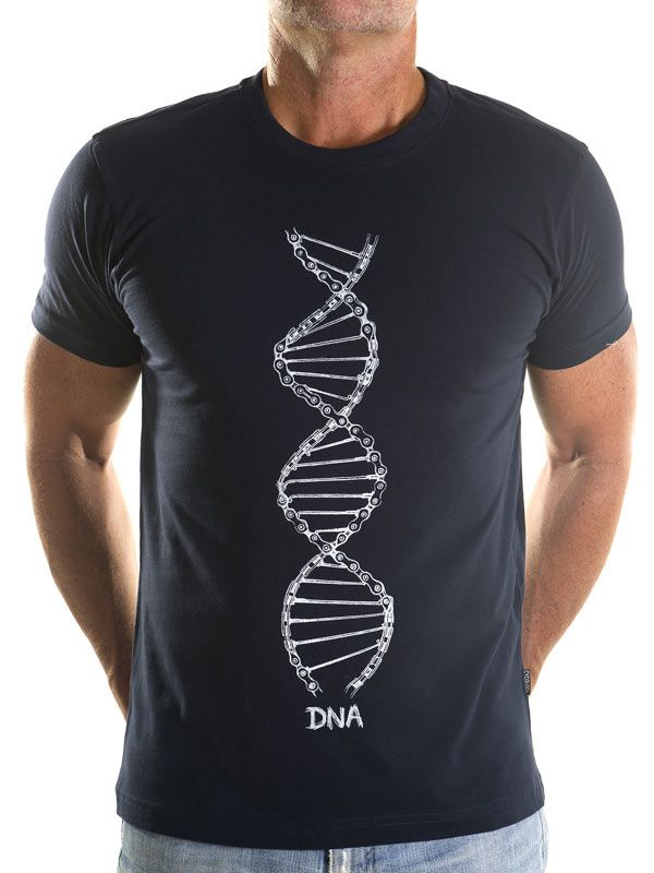 Cycling DNA Mens Cycling T Shirt in Navy from Cycology Clothing