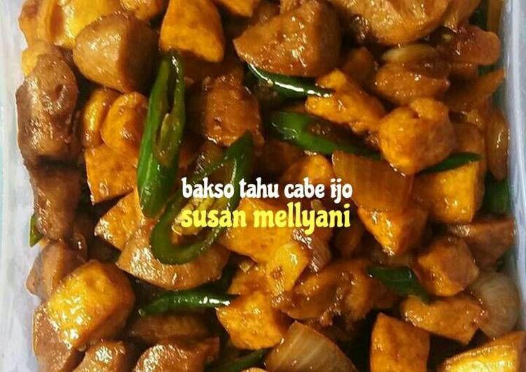 Resep Bakso Tahu Cabe Ijo Oleh Susan Mellyani Resep Ide Makanan Resep Makanan