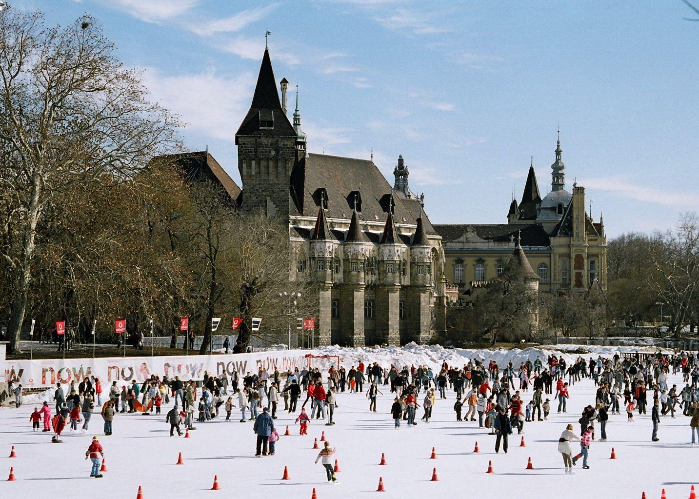 Будапешт зимой, каток