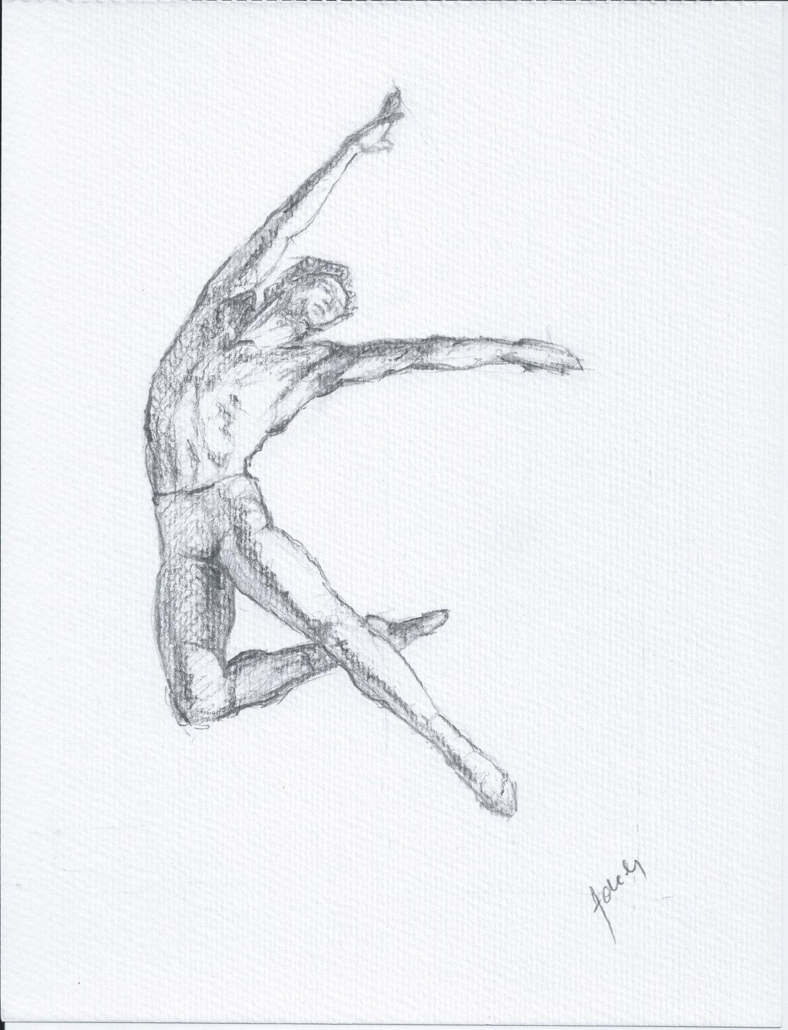 Sold male ballet dancer original pencil drawing a4 by whatsnew on etsy https