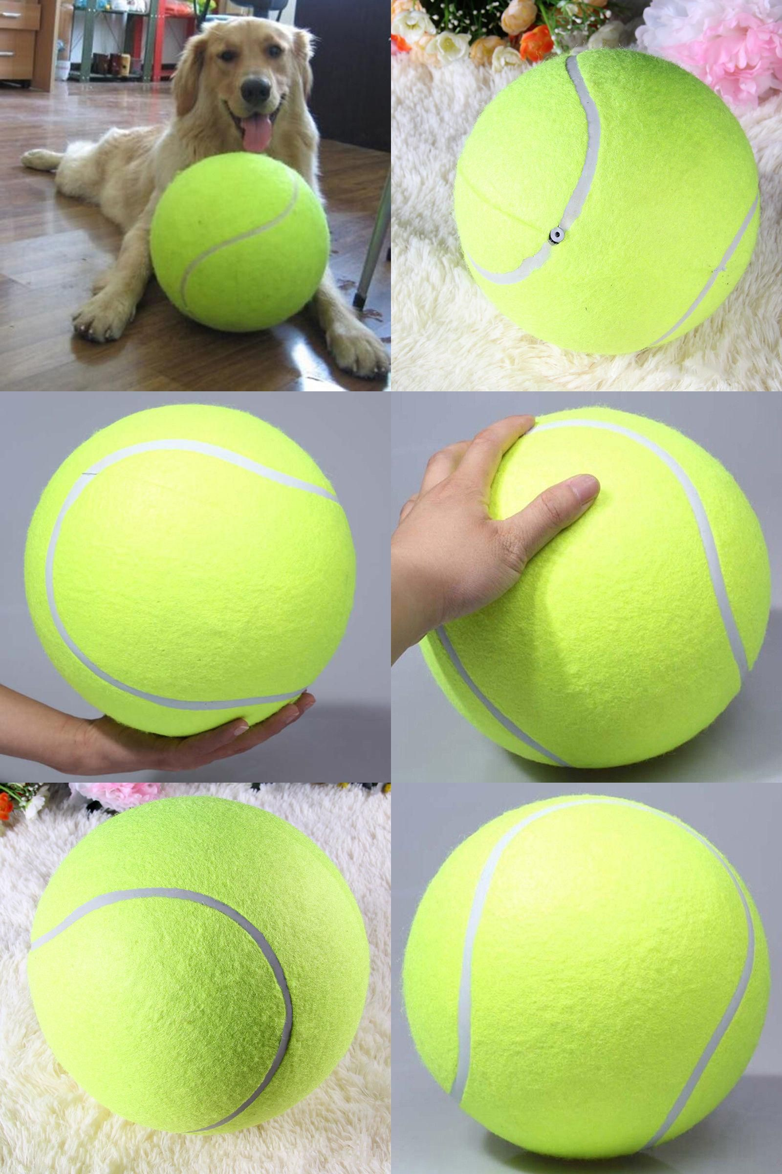 Visit To Buy 24cm 9 5inch Giant Tennis Ball For Pet Chew Toy Big Inflatable Tennis Ball Signature Mega Jumbo Pet Toy Ball Ou Dog Toy Ball Dog Ball Pet Toys