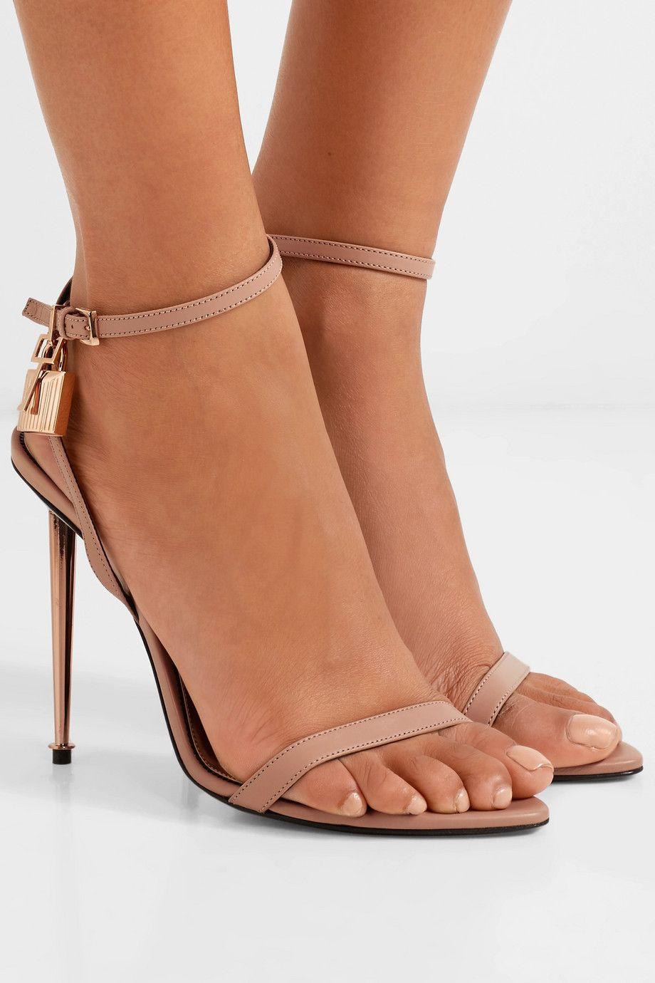 da557715f4 TOM FORD - Padlock leather sandals in 2019   I Love Net-a-Porter ...