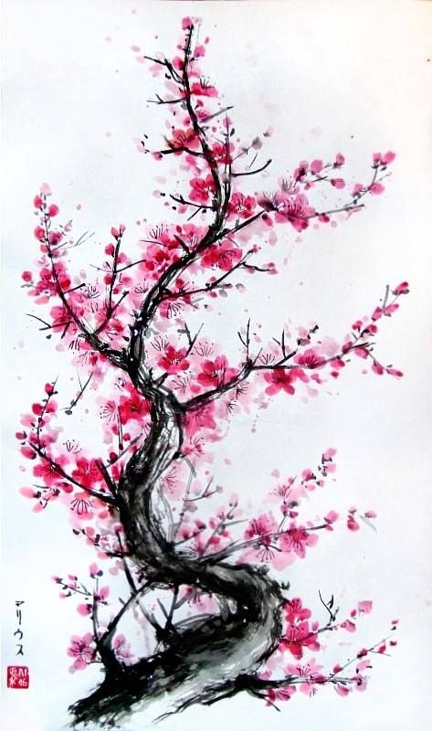 By Mariusz Goslawski Partage Of Japonskie Inspiracje On Facebook Blossom Tattoo Blossom Tree Tattoo Bonsai Tree Tattoos