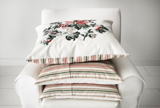 Combine Stripes And Florals In Similar Colours | IKEA Cushions U0026 Cushion  Covers
