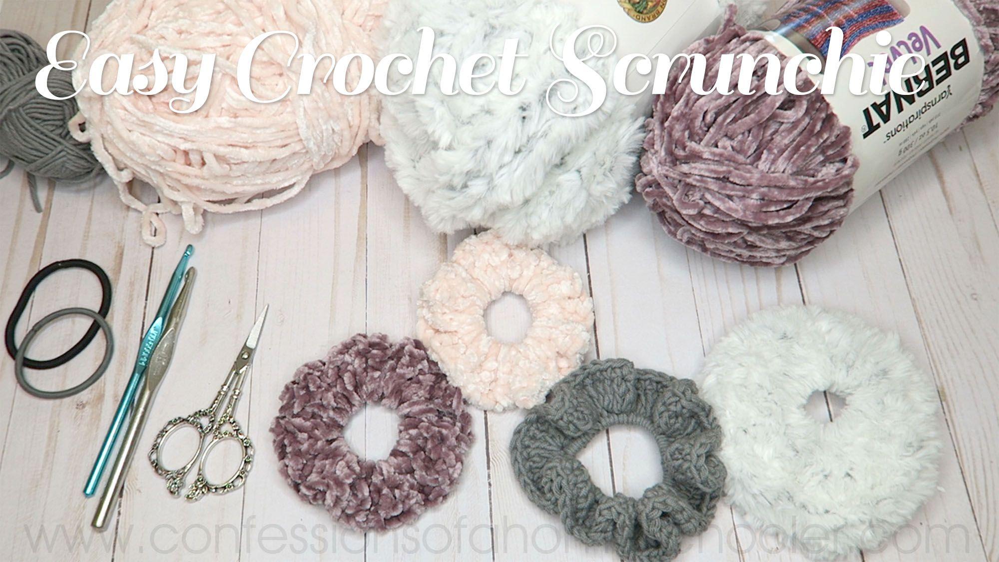 Easy Crochet Scrunchie Tutorial