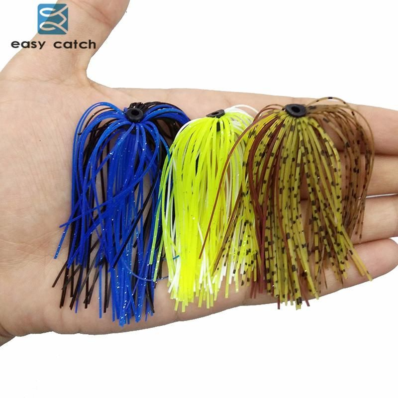 Easy Catch 10Pcs Fishing Rubber Jig Skirts 50 Strands